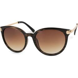 styleBREAKER Sonnenbrille Cat Eye Sonnenbrille Getönt braun