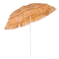 Kingsleeve Sonnenschirm, 160 cm Neigbar Höhenverstellbar Erdspieß Robust Standsicher leichter Transport Hawaiischirm Strandschirm Strandsonnenschirm braun