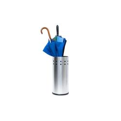relaxdays Schirmständer Schirmständer aus Edelstahl mit Einleger