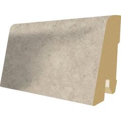 EGGER Sockelleiste L426 - Stein weiss, L: 240 cm, H: 6 cm