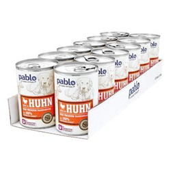 Pablo Hundefutter Naturals Huhn 400 g, 12er Pack