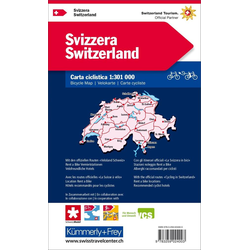 KuF Schweiz Radreisekarte 1 : 301 000