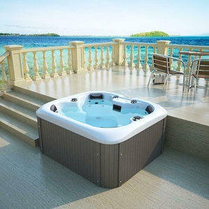 Luxus Outdoor Whirlpool Hot Tub mit Heizung Ozon LED für 4 Personen Spa Pool