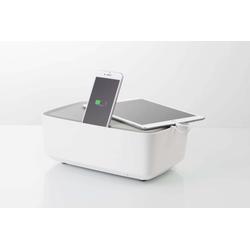 KMP Ladestation für mehrere Geräte - weiß - 6 Port Multi Handy, Tablet und Laptop Ladestation