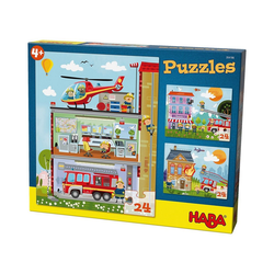 Haba Puzzle HABA 304186 Puzzleset 3 x 24 Teile - Kleine, Puzzleteile