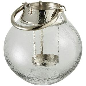 Windlicht ¦ transparent/klar ¦ Metall, Glas  ¦ Maße (cm): H: 19 Ø: [19.0]