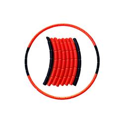 ShopAG.com Hula-Hoop-Reifen Kinder Hoola Hoop Reifen 8 teilig rot/schwarz - Sport für Kinder (8-tlg)