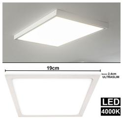 etc-shop LED Panel, LED Aufbau Decken Panel Leuchte Wohn Ess Zimmer ALU Leuchte Ultra Slim weiß