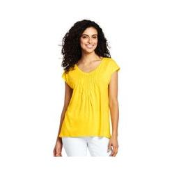 Langes Shirt mit Biesen - XS - Gelb