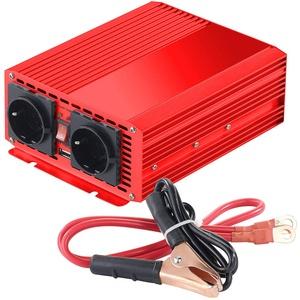 reVolt Sinus Spannungswandler: Kfz-Spannungswandler 700 W, 2X 230 V AC, 5 V USB, Peak 1400 W (Spannungsumwandler)