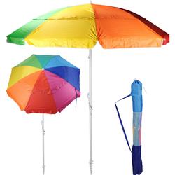 Sonnenschirm bunt mit Schraubdorn - 200 cm Durchmesser UV50+ Strandschirm