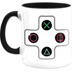 Shirtracer Tasse Gamer Controller - Statement Tasse - Tasse zweifarbig, Keramik
