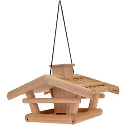 Vogelhaus VILLA aus Holz mit Futterreservoir - Vogelfutterstation Vögel füttern