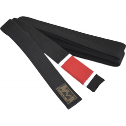 BJJ Gürtel schwarz, roter Balken (Größe: 330, Farbe: Schwarz)