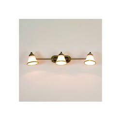 Licht-Erlebnisse Wandleuchte GRANDO Badleuchte Wandlampe Jugendstil drehbar 67cm Lampe