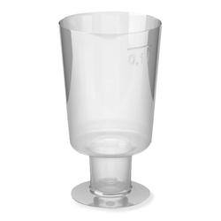 Einweg-Weinglas 100ml,  PS, 1 tlg. Ausführung, transparent glasklar, 15 Stk.