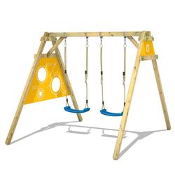 Wickey Doppelschaukel Schaukelgestell Smart Score - Schaukel, Schaukelgerüst, Kinderschaukel, Holzschaukel gelb
