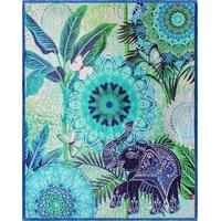 hip Plaid Isara, mit Mandalas und Elefant