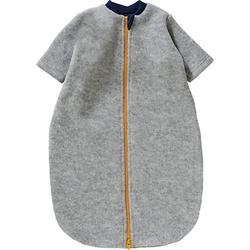Baby Schlafsack aus Wollfleece hellgrau Gr. 62/68