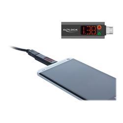 Delock USB-Stromverbrauchmessgerät - Schwarz