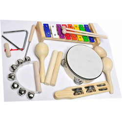 Clifton Percussion-Set 9 teiliges Kinder Percussion Set mit CD