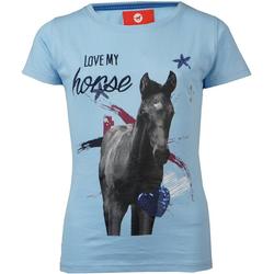 RED HORSE T-Shirt RED HORSE T-Shirt für Mädchen blau 116