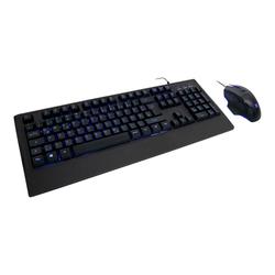 Inter-Tech KC-3001 - Tastatur-und-Maus-Set - Hintergrundbeleuchtung