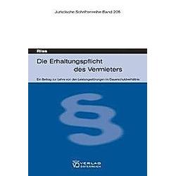 Die Erhaltungspflicht des Vermieters. Olaf Riss  - Buch