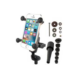 Soportes RAM Soporte de motocicleta con soporte de montaje universal X-Grip para smartphones - Adaptador de manillar