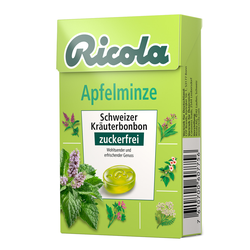 Ricola o.Z. Apfelminze Bonbons Box