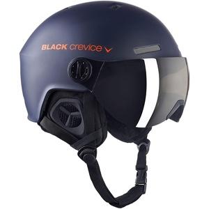 Black Crevice Skihelm Arlberg mit 2 Visieren, Navy/orange, 58-61 cm