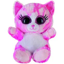 Bauer Plüschfigur Plüschtier Glitzer Katze (pink, 15cm)