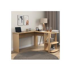 Gotui Eckschreibtisch, Eckschreibtisch, L-förmiger Computertisch,Aus MDF, Bürotisch Mit