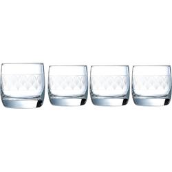 Luminarc Whiskyglas Paradisio (4-tlg), Glas, in Pantographie-Optik