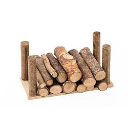 Holzstapel, 9 x 4 x 4 cm