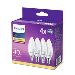 Philips Philips LED 40W B35 E14 WW FR ND 4CT-6 4-er Pack