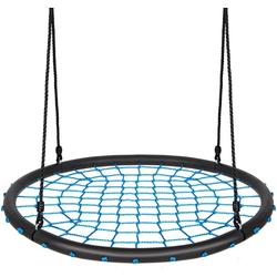 COSTWAY Nestschaukel Rundschaukel Baumschaukel, Ø100cm, 100-160cm verstellbaren Seil, 150kg Tragkraft