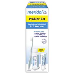 meridol Probier-Set Zahnbürste + Zahnpasta 20 ml + Mundspülung 100 ml