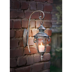 HomeLiving Windlicht Shabby-Grey