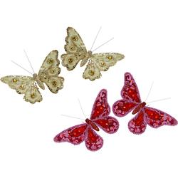 I.GE.A. Dekofigur »Deko-Schmetterling mit Clip«, Dekofiguren, 28119909-0 rosa rosa