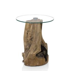 Beistelltisch aus Glas Baumstumpf