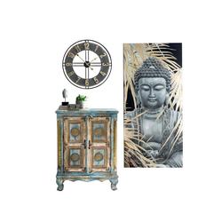Bild Buddha mit Palmblätter