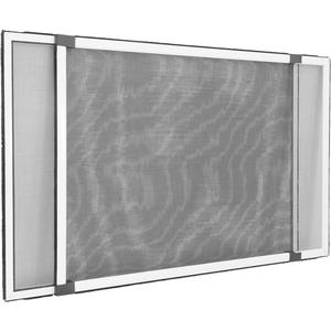 jarolift Insektenschutzrahmen Schiebfix Fliegengitter ohne Bohren für Fenster Türen mit Rollladen, Alurahmen, 100 x 75 cm (ausziehbar bis 193 cm), Weiß