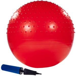 Smartfox Gymnastikball Fitnessball Sitzball mit Luftpumpe Größe 65 cm in rot