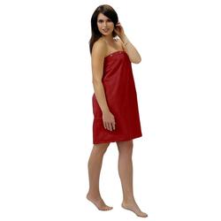 Sarong, Lashuma, - das hochwertige Sauna Zubehör für Damen rot