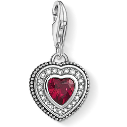 Thomas Sabo Herz mit rotem Stein 1478-640-10 Charm Anhänger