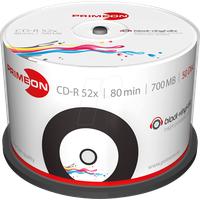 PrimeOn 2761107 CD-R 700 MB 50 St. Spindel Vinyl, Bedruckbar
