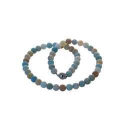 Bella Carina Perlenkette Amazonit matt, mit Amazonit matt 55