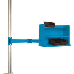 Manuflex LZ3901.5012 ESD-Sichtboxen-Regal in Lichtblau RAL 5012, BxTxH = 430 x 155 x 310mm