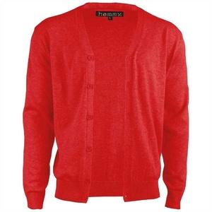 hemmy Fashion Cardigan (1-tlg) Cardigan Jacke Pullover Herren in Übergrößen, in vielen versch. Ausführungen verfügbar rot XXL